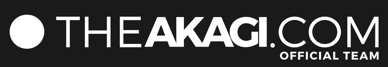 Stickers THEAKAGI.COM Blanc